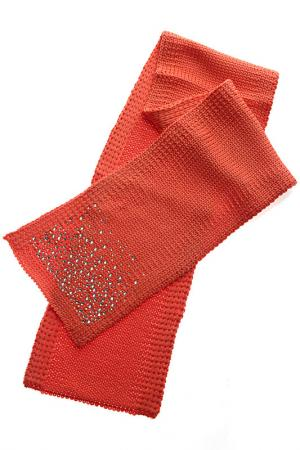 Шарф Catya. Цвет: оранжевый
