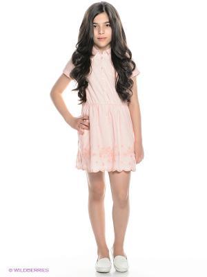 Платье Tommy Hilfiger. Цвет: розовый, белый