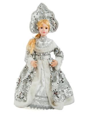 Новогодний сувенир для подарков Снегурочка Русские подарки. Цвет: серебристый, белый