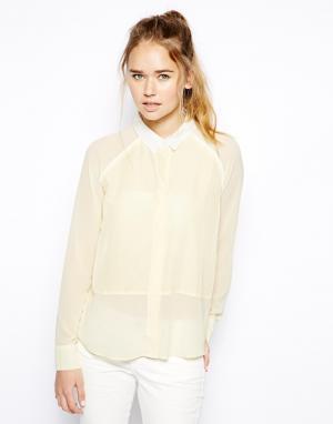 Блузка со вставками  Antiya Jovonnista. Цвет: желтый