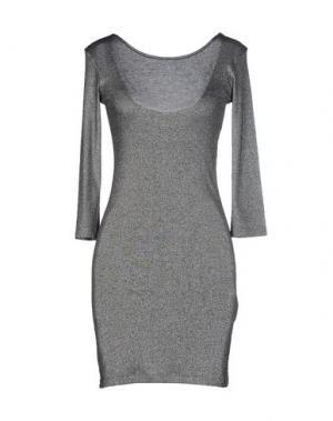 Короткое платье AMERICAN RETRO. Цвет: серебристый