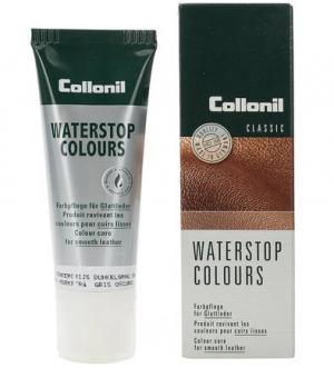 Водоотталкивающий крем для всех видов гладкой кожи Collonil. Цвет: серый