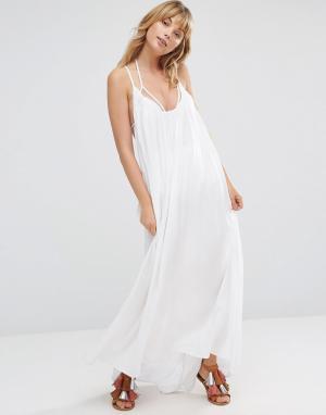 Vince Camuto Расклешенное пляжное платье макси. Цвет: белый