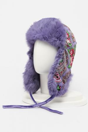 Шапка-ушанка ROMAX. Цвет: фиолетовый