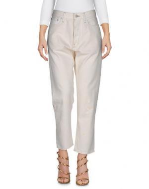 Джинсовые брюки YMC YOU MUST CREATE. Цвет: бежевый