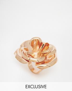 Mordekai Кольцо с розой. Цвет: золотой