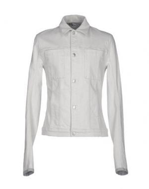Джинсовая верхняя одежда HELMUT LANG. Цвет: светло-серый