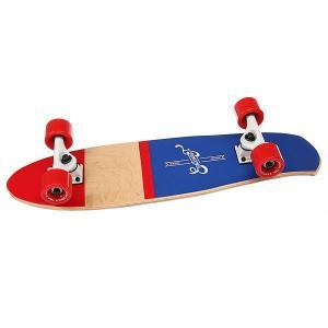 Скейт мини круизер  Shelby Nautica 7.25 x 27 (68.5 см) Eastcoast. Цвет: красный,бежевый,синий