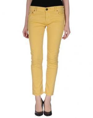 Повседневные брюки SHIELD. Цвет: охра