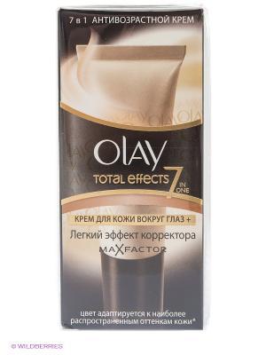 Крем для кожи вокруг глаз c легким эффектом корректора, Total Effects 7в1 Max Factor, 15 мл OLAY. Цвет: бежевый