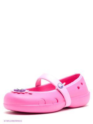 Аквасоки CROCS. Цвет: розовый