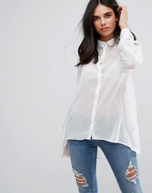Soaked in Luxury Рубашка. Цвет: белый