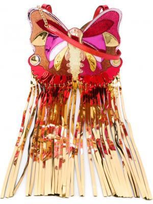 Сумка через плечо в форме бабочки Manish Arora. Цвет: красный