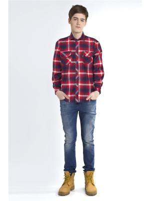Рубашка Sabotage. Цвет: красный