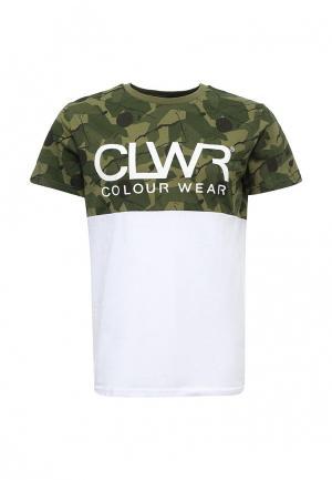 Футболка CLWR. Цвет: хаки
