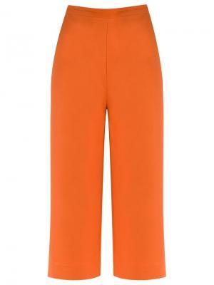 High-waisted culottes Andrea Marques. Цвет: жёлтый и оранжевый