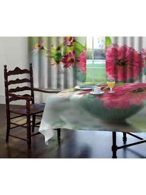 Комплект штор,Марте, печать 150*150 МарТекс. Цвет: розовый