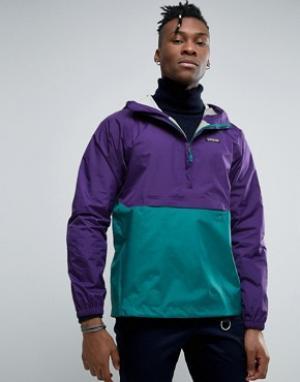 Patagonia Фиолетовая непромокаемая куртка Torrentshell. Цвет: фиолетовый