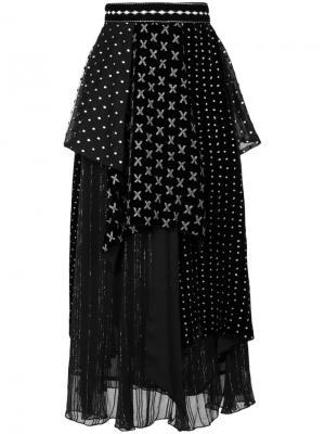 Многослойная юбка Stacy Dodo Bar Or. Цвет: чёрный