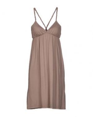 Короткое платье TWELVE-T. Цвет: хаки