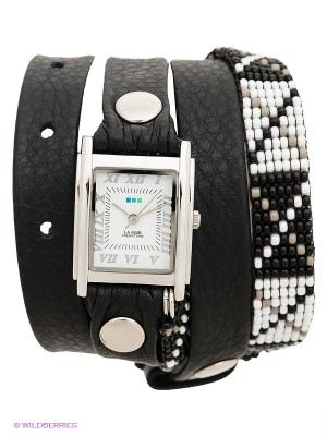 Часы La Mer Collections. Цвет: черный, серебристый