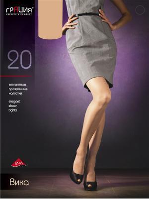 Колготки женские Вика 20 Грация. Цвет: светло-бежевый