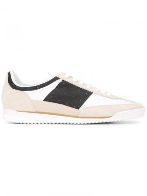 Кроссовки с панельным дизайном Maison Margiela. Цвет: белый