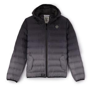Куртка стеганая с капюшоном 10 - 16 лет REDSKINS. Цвет: черный/серый