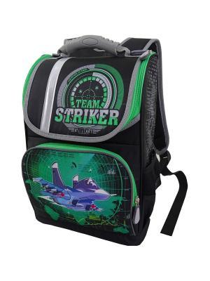 Ранец ученический Stelz. Цвет: черный, зеленый, синий