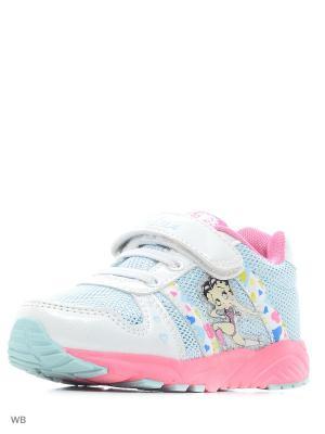 Кроссовки для девочек V-lux. Цвет: голубой, белый, розовый