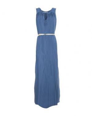 Длинное платье LA FEE MARABOUTEE. Цвет: грифельно-синий