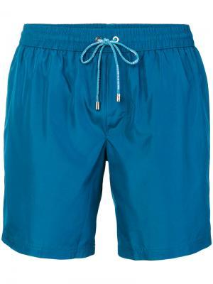 Плавки на шнурке Dolce & Gabbana. Цвет: синий