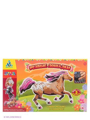 Мозаика Дикие лошади The ORB factory. Цвет: оранжевый, зеленый
