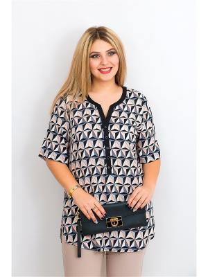 Блуза BALSAKO. Цвет: черный, бежевый