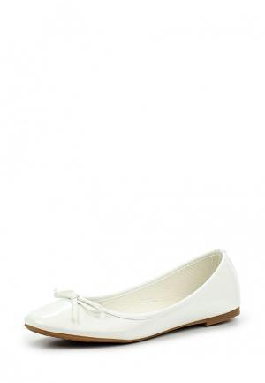 Балетки Max Shoes. Цвет: белый