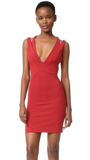 Мини-платье из джерси DSQUARED2. Цвет: красный