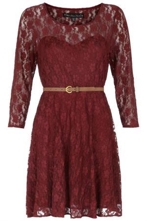 Платье Mela london. Цвет: bordeaux