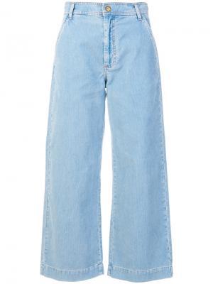 Широкие вельветовые джинсы Mih Jeans. Цвет: синий