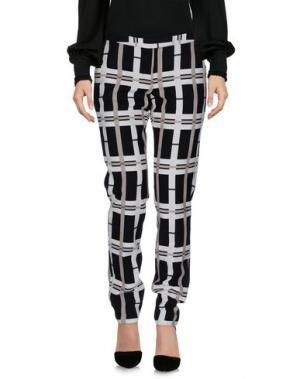 Повседневные брюки CAMICETTASNOB. Цвет: слоновая кость