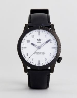 Adidas Часы с черным кожаным ремешком Z06 Cypher. Цвет: черный