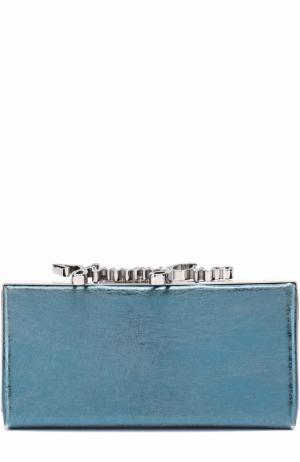 Клатч Celeste S из металлизированной кожи Jimmy Choo. Цвет: голубой