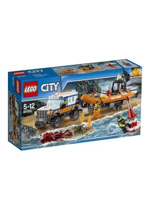 City Coast Guard Внедорожник 4х4 команды быстрого реагирования 60165 LEGO. Цвет: синий