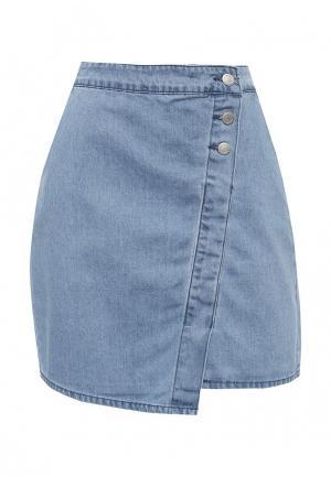 Юбка джинсовая Top Secret. Цвет: голубой