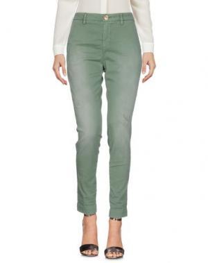 Повседневные брюки AGLINI. Цвет: зеленый
