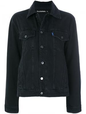 Джинсовая куртка Buffalo Filles A Papa. Цвет: чёрный