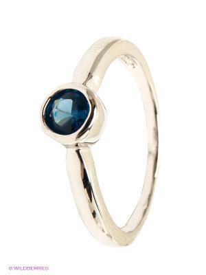 Кольцо Krikos. Цвет: серебристый, синий