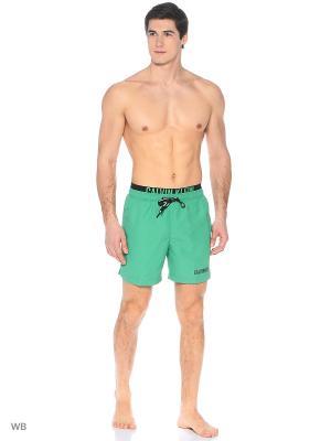 Бордшорты Calvin Klein. Цвет: зеленый