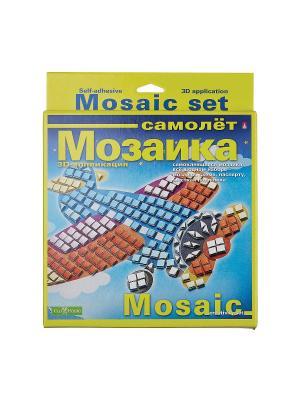 Набор декоративная мозаика  №3 самолет Альт. Цвет: красный