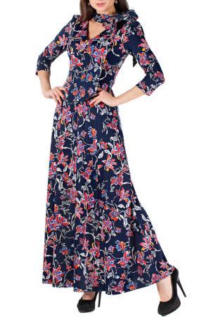 Платье Mannon. Цвет: сине-розовый
