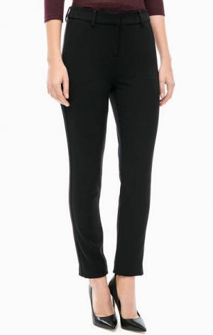 Зауженные брюки из костюмной ткани LERROS. Цвет: черный